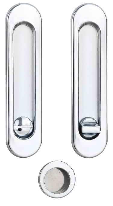 Ручки для розсувних дверей, комплект WC S223 хром