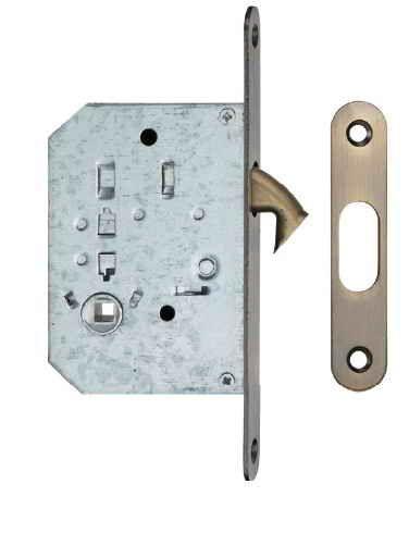 Ручки для розсувних дверей, комплект WC S223 бронза антична