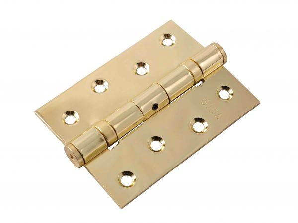 Завіса для дверей універсальна посилена 2BB-100 BP полірована латунь