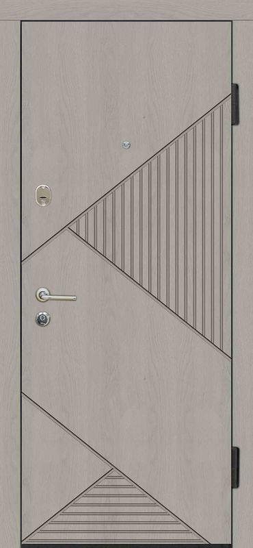 Двері вхідні Riccardi-Standart G-4 дуб gray/дуб ivory