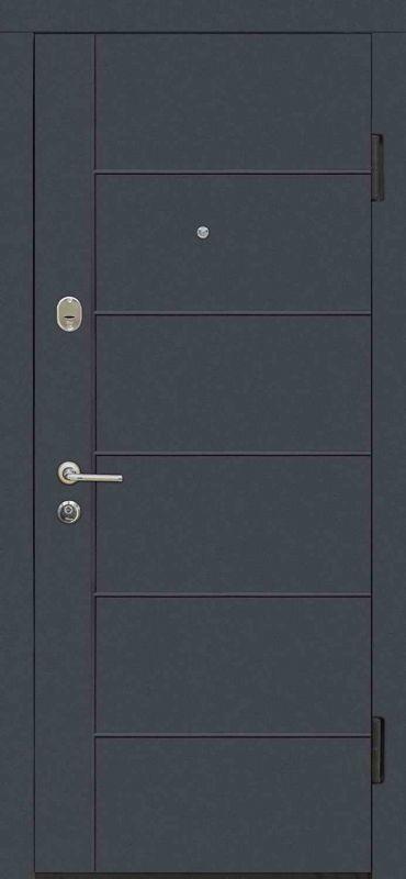 Двері вхідні Riccardi-Standart G графіт матовий/дуб білений