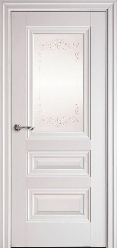 Дверне полотно Елегант Статус Р2 білий матовий