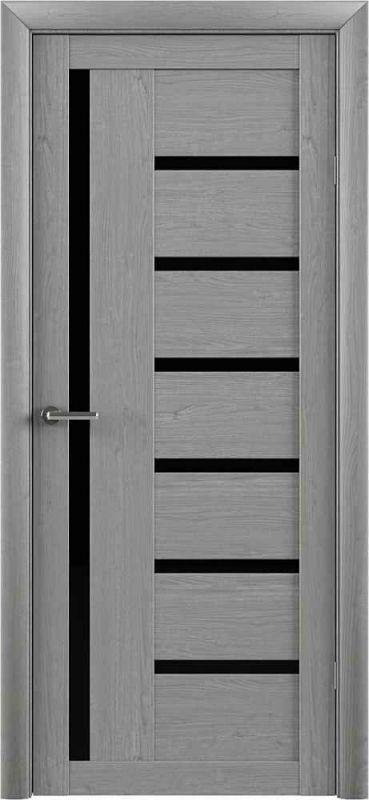 Дверне полотно  Albero Bianca (T3) ясен димчастий чорне скло