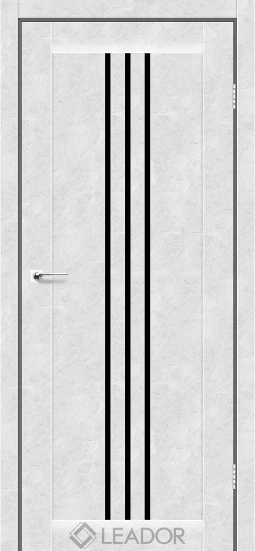 Verona Sincrolam бетон білий чорне скло