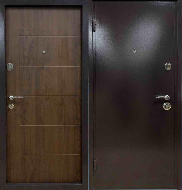 Двері вхідні WD Арія-економ Арізона (вулична) Горіх темний
