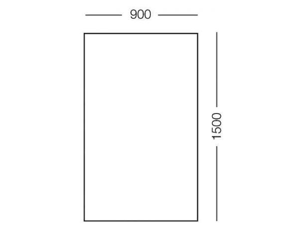 Москітна сітка для вікон WN 900*1500 мм чорна