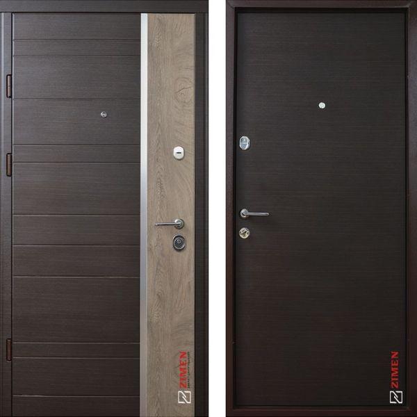 Двері вхідні Zimen - Darcy optima Plus kale венге темний